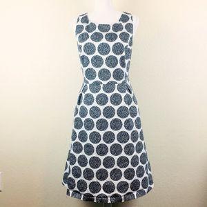 WHBM Polka Dot Fit & Flare Sleeveless Dress Sz 14